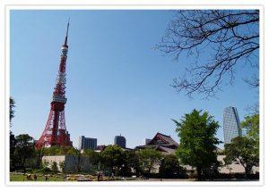 東京タワーと青空