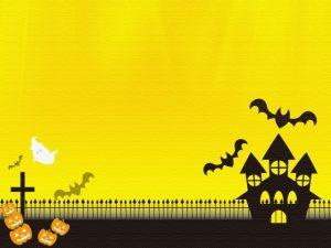黄色いハロウィンの背景