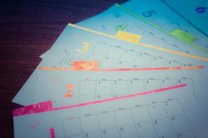 12枚のカレンダー