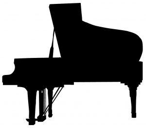 ピアノの影
