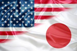 日本とアメリカの旗