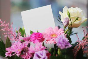 花とメッセージ