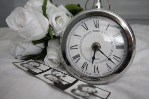 カップルと時計