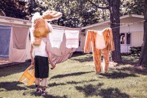 厚手の洗濯物